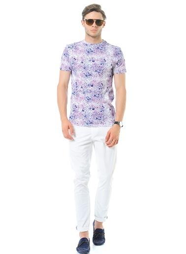ADOFF Desenli Tişört Pembe